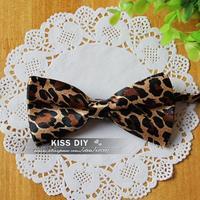 Leopard Print Womens Mens bowtie bow Tie Necktie drop Free shipping