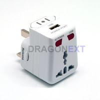 Free shipping   All in One Universal Travel Wall Charger,AC Power Adapter Converter AU/UK/US/EU Plug,Retail Travel Adapter