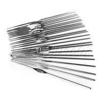 "24 Sizes 4.78"" 0.5-2.7mm Stainless steel Crochet Needles Hooks Hardwearing"