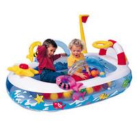 Intex 48660 Mini Fun Boat Ball Pool / Children inflatable toys / ocean pool