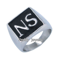 Free shipping! Stainless Steel Sons of Anarchy NS Set Ring Biker Ring GD00002