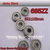 Free Shipping 20pcs /Lot For Deep Groove Ball Bearing 685ZZ 618/5 685Z 5x11x5 Shielded Miniature Ball Bearings 5mm*11mm*5mm