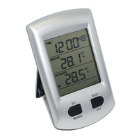 2014 Brand New Wireless LCD Thermometer Temperature Sensor Alarm Clock Weather Station High Quality