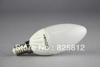 Big Eye color box E14 4W LED candle bulb ceramic lamp body (white)