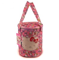 K56 new arrival summer hot very cute Hello Kitty Cylindrical multi-utility embroidery bag