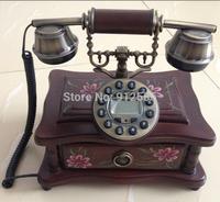 Wood Crafts Retro Telephone Antique Phone Telephone Home Telephone Set