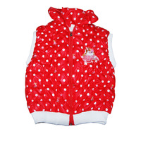 Sunlun Girl Fashion Autumn And Winter Lightweight Zipper Thickening Dot Three Colors Vest Girls Waistcoat Free Shipping