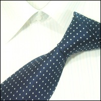 Men's neckties,business ties,100%silk shirts ties,dark blue with white dots , DSC00033