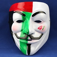 guy fawkes V,vendetta team pink blood scar masquerade masks Halloween carnival Mask Party mask,environmental protection PVC  D