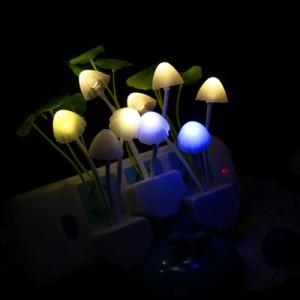 2166 Colorful fantasy mushroom lamp led light control sensor baby lamp bedroom night light creative free shipping