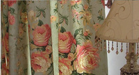 Nostalgic vintage american curtain rustic 100% cotton fabric curtain
