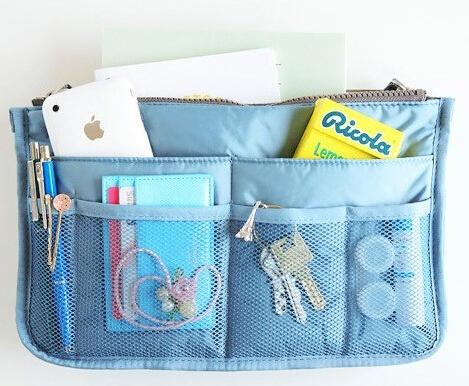 1pc Cosmetic Storage Organizer Bag Insert Purse Handbag Makeup bag(China (Mainland))