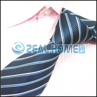 Men's neckties,business ties,classic ties,dark blue with white striped necktie, s018