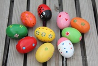 sample order Colorful Pattern Wooden Maracas Eggs Wood Instrument Baby Toddler Toy Educational Toys Free Shipping