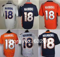 Free Shipping Peyton Manning Jersey,Mens Elite/Game Blue/White/Orange American Football Jerseys,Accept Mix Order