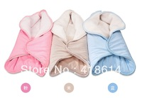 Flower-shaped thermal holds parisarc autumn and winter newborn baby supplies thickening Blankets