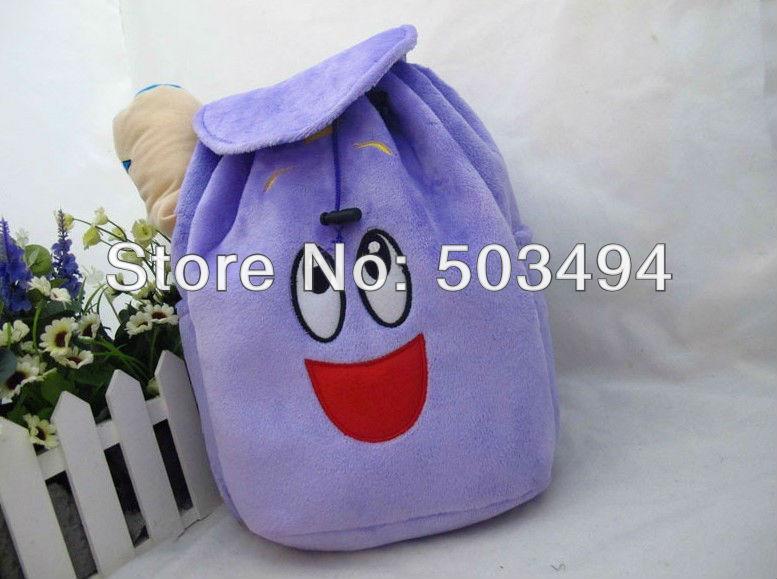 Dora the Explorer Plush Backpack pré escola bolsa criança(China (Mainland))