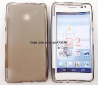 Soft Skin TPU Gel Case Cover  Black For HUAWEI Ascend D2 D2-201 D2-0082 TD-LTE