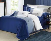 New Arrival Luxury Bedding Set Home Textile Blue Comforter Set King Queen Size Duvet Cover Cotton Bed Covet Bedclothes