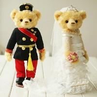 FREE SHIPPING Pairs Wedding Gifts/Wedding Bear/Wedding Dress Bear/Wedding Car Doll/Plush Teddy Bear/Cute Plush Dolls  CL0109