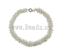 Free shipping!!!Natural Freshwater Pearl Necklace,fantasies for womens, Rice, white, 6-7mm, Sold Per 18.5 Inch Strand