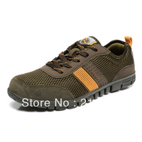 Free shipping newest fashion big size cowhide genuine leather + breathable mesh mens sneakers US size 5-14 from manufacturer
