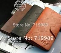Long 3color New Mens Leather Money Clip Slim Bifold Credit Card Clutch Holder Wallets Purse