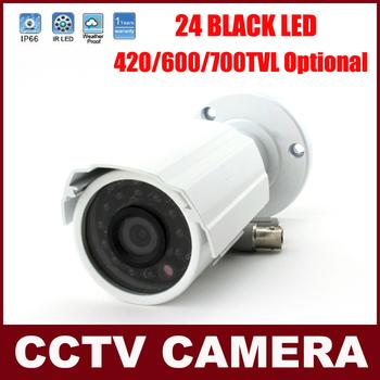 1/3'' CMOS 420TVL 600TVL 700TVL IR Night Vision CCTV Camera Security Weatherproof Surveillance Camera 24Pcs Black IR LED