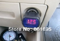 LED Display Cigarette Lighter Electric Voltage Meter For Auto Car Battery retail package Free Fedex DHL UPS shipping