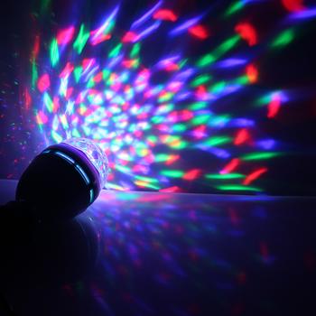 COOL!! 3W RGB DJ Stage Rotating Lighting Bulb Disco Crystal Ball Lights E27 Base Lamp RGB LED