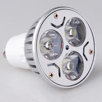 3W LED spotlight GU10 AC220V 110V aluminum led bulb lamp for home lighting, free shipping