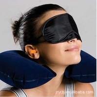 Free shipping Sambo flocking air pillow travel pillow goggles ear