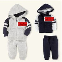 Baby boys clothing sets  hoody suits children sport  suits coat jacket pants  trousers outfits 2013 autumn new