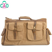 The new 2013 vintage crazy horse leather and canvas bag shoulder bag horse leather cross body bag leisure travel bag D1029