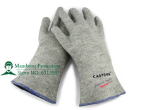 Free Shipping 10pcs/lot carbon fiber welding gloves arc-welder's gloves fire-proof safety working gloves