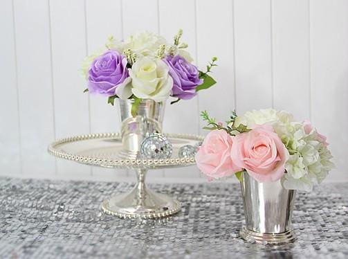 1028 banho de prata metal mini vaso de prata derlook vaso moda , suprimentos de casamento , adereços de casamento , decoração de casa
