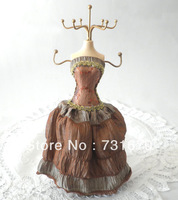 European style Strapless gown with skirt multiple use sexy lady doll brown jewelry holder SSJ041