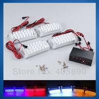 4x22 LED Car Strobe Light Emergency Car Net Light Car Warning Light 12V 51027
