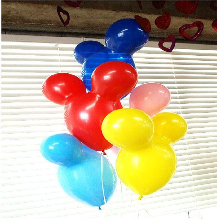 Classic Toys 100pcs Mickey Mouse Shape Balloon Animal Balloon Latex balloons for Birthday party celebration decoration(China (Mainland))