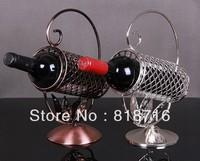 Wine holder Modern European Style High-quality Metal Wine Rack, Made of Wrought Iron ,1Bottles
