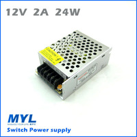 24W 2A 12V Switching Power Supply For LED Strip light, input AC100V-240V,Lighting Transformers,LED Driving power Free Shipping