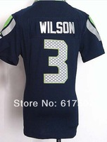#3 Russell Wilson Women Jersey American Football Jersey Sport Jersey Stitched Logo Embroidery Authentic Jersey