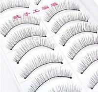 10 Pairs Handmade Fake False Eyelash Natural Look Transparent Stem