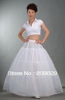 Free shipping Hot sale 50% OFF 3 HOOP bone full interlining petticoat prom dresses wedding skirt slip new petticoats