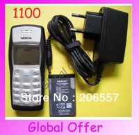 1100 Original Unlocked NOKIA 1100 1101 mobile phone Dualband Classic Cheap Cell phone 1 year warranty Free S/H