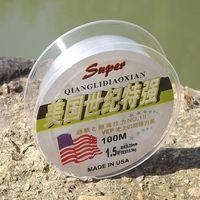 Promotion! Fishing Line Brand Super Strong Japanese 100m 100% Nylon Transparent Fluorocarbon Fishing Line Fishing Tackle