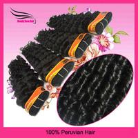 DHL free shipping 4pcs deep wave virgin peruvian hair,high quality natural color virgin human extesion,mixed length 12-28 inch