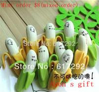 Banana Eraser/ Novelty eraser / Rubber Eraser/ kids Gifts food shaped erasers school supplies 24pcs/lot