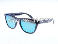 OREKA  Men's  Fashion UV400 Protection Resin Lens Polarized Sunglasses - Black + Blue
