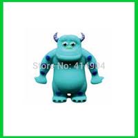 wholesale 1pc/lot Real 2GB/4GB/8GB/16GB/32GB Cartoon Cattle Sulley USB Flash Drive Pen Drive USB Memory Stick Free Shipping